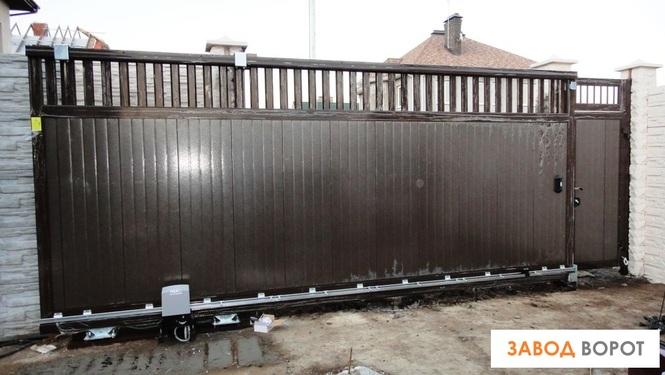 Откатные ворота до 300 кг ворота уличные сварные